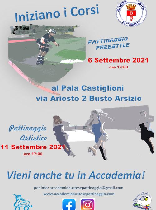 Inizio corsi 2021-2021